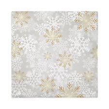 Snowflake Elegance Queen Duvet