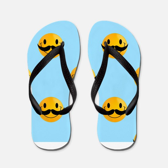 movember emoji Flip Flops