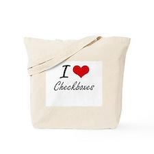I love Checkboxes Tote Bag