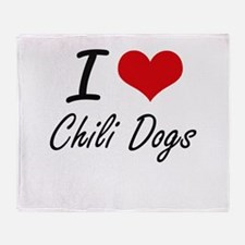 I love Chili Dogs Throw Blanket