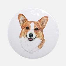 Pembroke Welsh Corgi Round Ornament