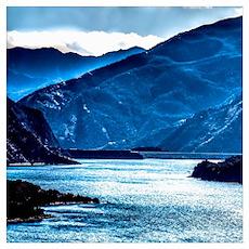 Blue Lake View Poster