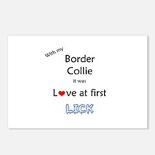 Border Collie Lick Postcards (Package of 8)