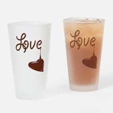 Love chocolate Drinking Glass
