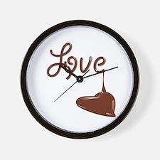 Love chocolate Wall Clock