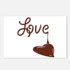 Love chocolate Postcards (Package of 8)