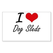 I love Dog Sleds Decal