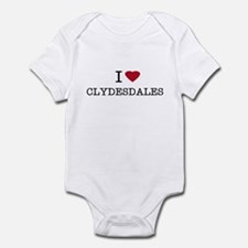 I Heart Clydesdales Infant Creeper