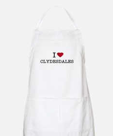 I Heart Clydesdales BBQ Apron
