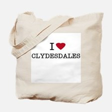 I Heart Clydesdales Tote Bag