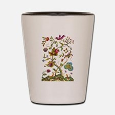 Tree of Life Jacobean Embroidery Shot Glass