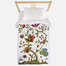 Tree of Life Jacobean Embroidery Twin Duvet