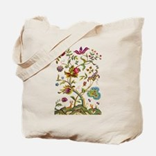 Tree of Life Jacobean Embroidery Tote Bag