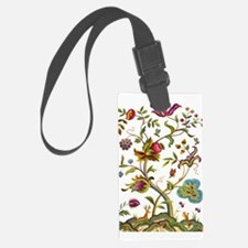 Tree of Life Jacobean Embroidery Luggage Tag