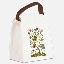 Tree of Life Jacobean Embroidery Canvas Lunch Bag