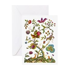 Tree of Life Jacobean Embroidery Greeting Card