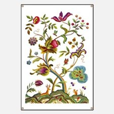 Tree of Life Jacobean Embroidery Banner