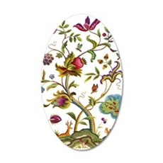 Tree of Life Jacobean Embroi 35x21 Oval Wall Decal