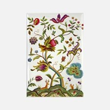 Tree of Life Jacobean Embroidery Rectangle Magnet
