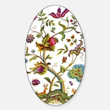 Tree of Life Jacobean Embroidery Sticker (Oval)