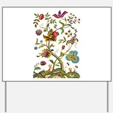 Tree of Life Jacobean Embroidery Yard Sign