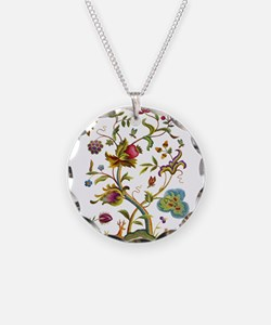Tree of Life Jacobean Embroi Necklace