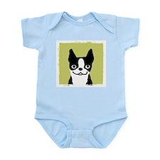 Cute Whimsical boston terrier Infant Bodysuit