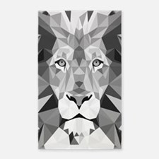 Gray Lion Area Rug