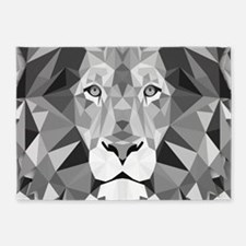 Gray Lion 5'x7'Area Rug