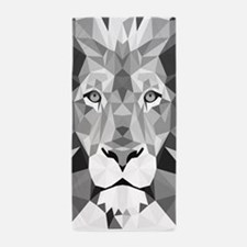 Gray Lion Beach Towel