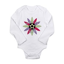 Cute Womens soccer Long Sleeve Infant Bodysuit