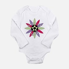 Cute Soccer baby Long Sleeve Infant Bodysuit