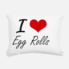 I love Egg Rolls Rectangular Canvas Pillow