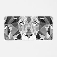 Gray Lion Aluminum License Plate
