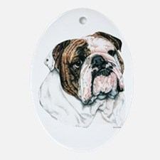 Bulldog Oval Ornament