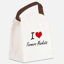 I love Farmers Markets Canvas Lunch Bag