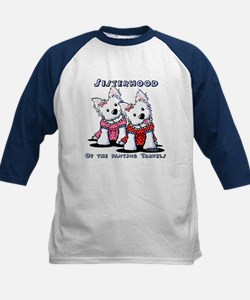 KiniArt Westie Rabbit Kids Baseball Jersey