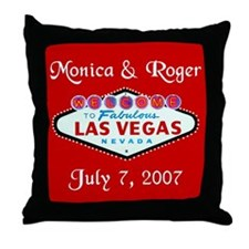 Sample Vegas Personalized Throw Pillow