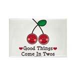 Good Things Cherry Twin Rectangle Magnet (100 pack