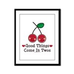 Good Things Cherry Twin Framed Panel Print