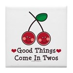 Good Things Cherry Twin Tile Coaster