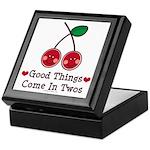 Good Things Cherry Twin Keepsake Box