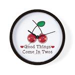 Good Things Cherry Twin Wall Clock
