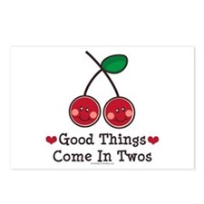 Good Things Cherry Twin Postcards (Package of 8)