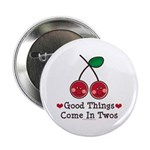 Good Things Cherry Twin Button