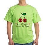 Good Things Cherry Twin Green T-Shirt