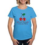 Good Things Cherry Twin Women's Dark T-Shirt