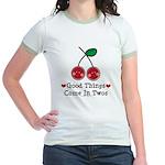 Good Things Cherry Twin Jr. Ringer T-Shirt