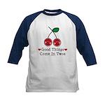 Good Things Cherry Twin Kids Baseball Jersey