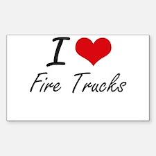 I love Fire Trucks Decal